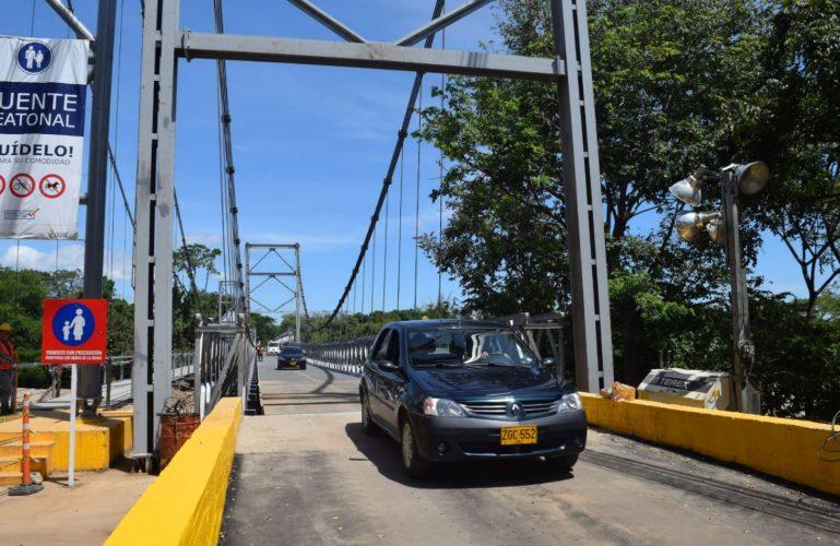 Se habilita paso alterno por el puente INVIAS 1 en El Charte