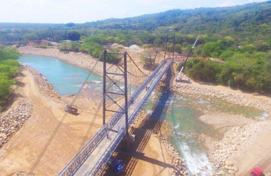 Mañana se realizará la instalación de tensores en el puente Invías 2