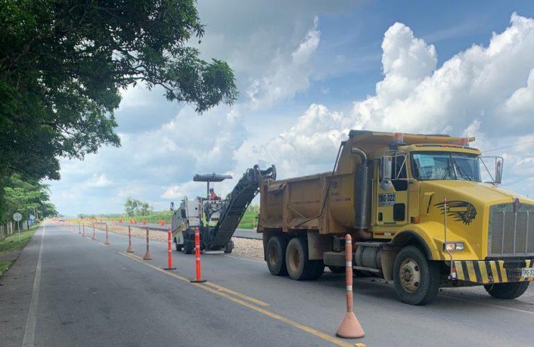 🚧 ESTADO DE LA VÍA | En el tramo Aguazul – Yopal se inició el mejoramiento de la vía existente